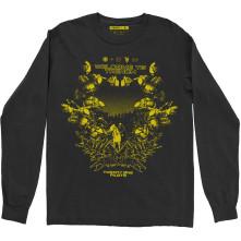 Tričko s dlhým rukávom Trench Scene, Unisex, Čierna,