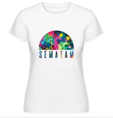 Tričko Sematam, Žena, Biela,