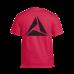 Muž - Tričko Logo Black print (Červená)